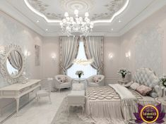 Bedroom Design Ideas – Create Your Own Private Sanctuary Luxury Bedroom Furniture, Luxury Bedroom Design, Master Bedroom Design, Fancy Bedroom, Ceiling Design Living Room, Bedroom False Ceiling Design, Classic Bedroom Decor, Home Decor Bedroom, Decor Room