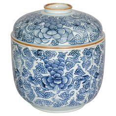Chinese Blue and White Bowl and Cover, circa 1740 | From a unique collection of antique and modern ceramics at https://www.1stdibs.com/furniture/asian-art-furniture/ceramics/