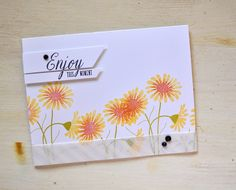 Flower Favorites Revisited - Enjoy This Moment Card by Maile Belles for Papertrey Ink (September 2015)