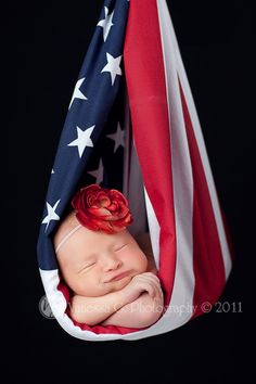 love this!  Maddie was a valentines baby and this next one is a 4th of july baby.