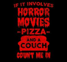 Horror and pizza! Yes please