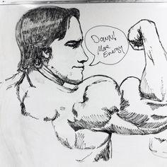 Whiteboard art. Arnie.