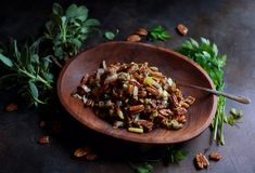 Low-Carb Pecan Stuffing - Simply So Healthy