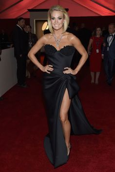 Carrie Underwood arrives at the 58th Annual GRAMMY Awards on Feb. 15 in Los Angeles