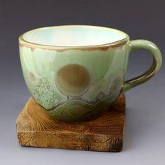 Big Cup Crystalline Glaze Green Explosion 15