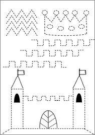 schrijfpatroon kasteel