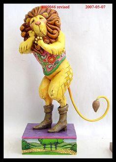"jim shore wizard of oz | Jim Shore's ""Wizard of Oz Lion Figurine."""