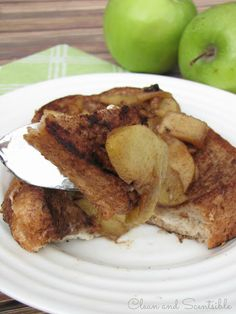 Clean & Scentsible: Cream Cheese and Apple Stuffed French Toast