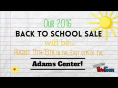 Duck Duck Goose Missoula Back to School Sale is August 11-13th at the Adams Center East Gym! Registration opens June 3rd! #shopdkdk406