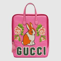 Children's canvas backpack with rabbit