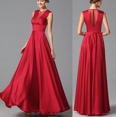 Red Prom Dresses ,sleeveless Evening Dresses ,red Party Dresses on Luulla Lace Evening Dresses, Evening Gowns, Prom Dresses, Formal Dresses, Wedding Dresses, Red Frock, Gowns Of Elegance, Popular Dresses, Colorblock Dress