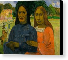 Mother and Daughter by Paul Gauguin in oil on canvas, done in c. Now in Metropolitan Museum of Art. Find a fine art print of this Paul Gauguin painting. Paul Gauguin, Oil On Canvas, Canvas Art, Canvas Prints, Art Prints, Painting Canvas, Gustav Klimt, List Of Paintings, Art Paintings
