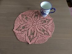 This handmade crochet doily measures in diameter made of Anchor yarn fine cotton ♥♥Made in a smoke free & pet free environment. Crochet Doilies, Salmon, Coasters, Trending Outfits, Unique Jewelry, Handmade Gifts, Pink, Etsy, Vintage