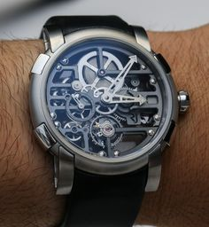 Romain Jerome Skylab Skeletonized Watches Hands-On Dream Watches, Luxury Watches, Cool Watches, Rolex Watches, Watches For Men, Fine Watches, Geek Jewelry, Fashion Jewelry, Jewelry Necklaces