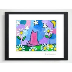 Kimmy & the Stars sparkling matted print – Nettie Price Sparkling Art