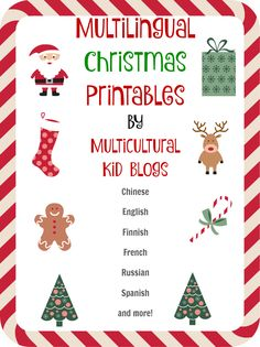 Multilingual Christmas printables | Multicultural Kid Blogs - so great! Many languages and fun cut out printables