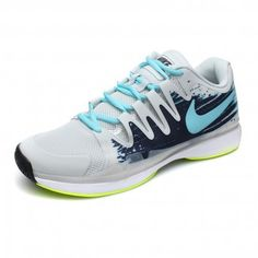 Cheap Nike Zoom Vapor 9.5 Mens Tour Tennis Federer Light Grey Sky Blue  Green Yellow 631458 002 96c5e934f