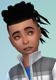 Sims 4 CC's - The Best: ES Male Hair Converted for Boys by Sheplayswithlif...
