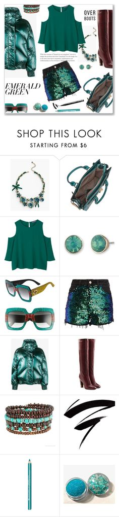 """""""Untitled #1622"""" by sibanesly ❤ liked on Polyvore featuring Talbots, Dasein, MANGO, Lonna & Lilly, Gucci, Ienki Ienki, Marc Jacobs, NYX and emeraldgreen"""