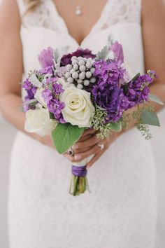 Purple Bouquet Ideas, Wedding Flowers Photos by Christy Wilson Photography - Image 7 of 17 - WeddingWire