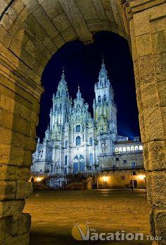 Catedral Santiago de Compostela Galicia Spain.