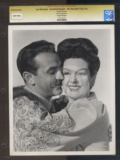 "Lee Bowman, Rosalind Russell in ""She Wouldn't Say Yes"""