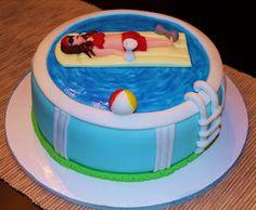 Pool Floatie Cake