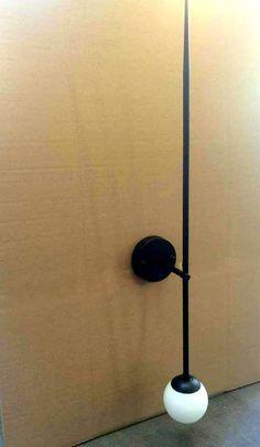 LUNA Wall sconce lamp light in industrial minimal restoration style edison opal