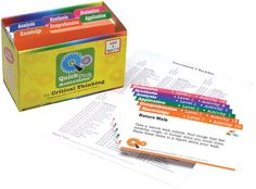 Activities for Critical Thinking cards to buy Creative Thinking Skills, Thinking Strategies, Critical Thinking Activities, Learning Time, Project Based Learning, Speech Language Pathology, Speech And Language, Excellence Is A Habit, Higher Order Thinking