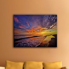Beachcrest Home The Sunset by Antonio Raggio Photographic Print on Wrapped Canvas Size: Canvas Size, Canvas Art, Canvas Prints, Sunset Canvas, Colorful Wall Art, Office Art, Cool Walls, Joss And Main, Metal Wall Art