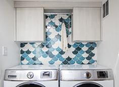 Make It Mosaic: Ogee Drop Laundry Room | Fireclay Tile