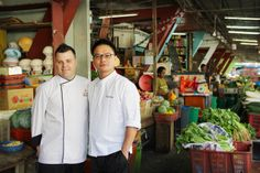Chef Sam Leong with Chef Darrel