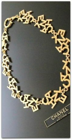 Gold Chanel Necklace, with Fresh Modern Style, Paris, France