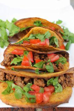 Grain Free Taco Shells {Paleo, Vegan} - Predominantly Paleo (with plaintains)