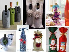 Embalagem para garrafas de vinho, ...Valorize o seu presente, capriche na embalagem.  Um dos presentes clássicos de Natal são as bebidas. Uma bela garrafa de vinho, espumante ou licor é sempre uma lembrança de bom gosto. Veja algumas sugestões bonitas e criativas parao embalar uma garrafa para presente.    https://www.facebook.com/BazarArtesanato