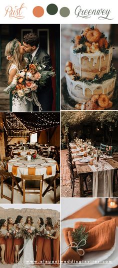 October Wedding Colors, Fall Wedding Colors, Wedding Color Schemes, Autumn Wedding Ideas October, Fall Wedding Inspiration, Wedding Themes For Fall, Wedding In October, Indoor Fall Wedding, Fall Wedding Table Decor