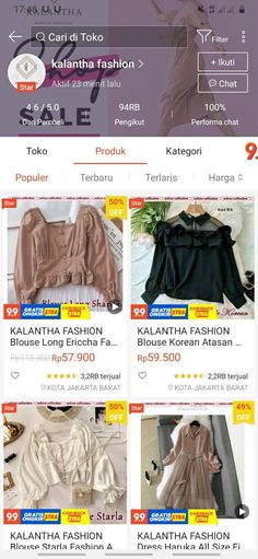 Best Online Clothing Stores, Online Shopping Stores, Hijab Fashion, Korean Fashion, Fashion Outfits, Online Shop Baju, Aesthetic Shop, Casual Hijab Outfit, Retro Outfits