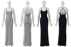 New Womens Summer Sexy Beach Holiday Jersey Slit Maxi Long Dress Celeb Style £13.99