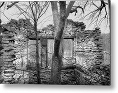 The Tree House Bw Metal Print by Bonfire #Photography