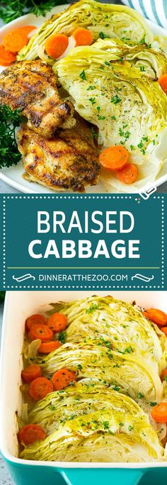 13 Old-School Recipes Your German Grandma Used to Make Braised Cabbage Recipe Side Dish Recipes, Vegetable Recipes, Vegetarian Recipes, Dinner Recipes, Cooking Recipes, Healthy Recipes, Vegetarian Cabbage, Catering Recipes, Slaw Recipes