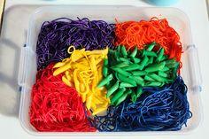 Play At Home Mom LLC: Colored Spaghetti