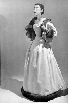 Renée Breton in Christian Dior, 1956