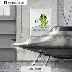 Hi I Come In #Peace #Alien #UFO #FlyingSaucer #ForKids #Poster #KidsDrawing #InstaKidsArt #InstaKids #KidsTalent #SchoolDrawing #Kindergarten #CoolPosters #BadFishPosters . www.badfishposters.com . www.badfishposters.etsy.com Kids Talent, Do It Yourself Furniture, Wall Of Fame, Flying Saucer, Kids Poster, Alternative Movie Posters, Digital Wall, Frame It, Cool Posters