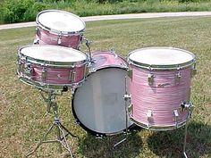 Vintage Drum kit - Rogers !!! Cotton Candy! omg!!