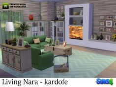 The Sims Resource: Living Nara by Kardofe • Sims 4 Downloads