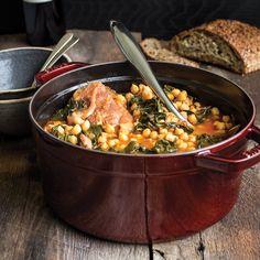 Potaje de Garbanzos - Stewed chickpeas with collards and salt pork. | Lucky Peach