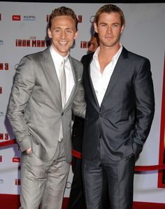 torrilla: Tom Hiddleston and Chris Hemsworth attend 'Iron Man 3' World Premiere held at the El Capitan Theatre on April 24, 2013 [HQ]