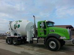 Mack Granite Axle back concrete mixer Types Of Concrete, Mix Concrete, Mack Trucks, Semi Trucks, Cement Mixer Truck, Oil Platform, Manchester Nh, Oil Tanker, Concrete Mixers