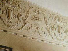 1000 images about house anaglypta lincrusta on pinterest anaglypta wallpaper copper - Crown molding wallpaper ...