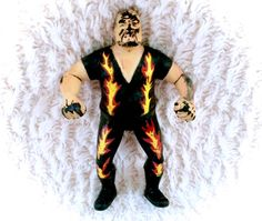 A sweet vintage 1988 WWF LJN Rubber wrestler figure -- Bam Bam Bigelow. In decent vintage condition with some paint transfer present.  Please see all pictures up close for thorough representation!  I have TONS more vintage items for sale in my Etsy shop, including many wrestlers - check it out for super cheap shipping discounts!  I ship WORLDWIDE from a clean, pet & smoke-free home! Please note that shipping times will be slower OUTSIDE of the US & Canada (up to 3 months), and tracking is…